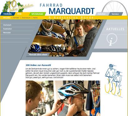 Image- und Info-Internetseiten für Fahrrad Marquardt